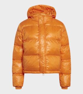 Shiny Poly Jojo Jacket Oriole Orange