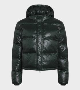 Shiny Poly Jojo Jacket Scarab Green