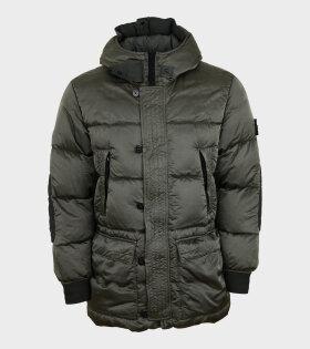 Nylon Raso Down-TC Jacket Green