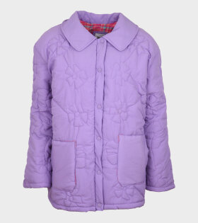 Roma Floral Quilted Jacket Lilac