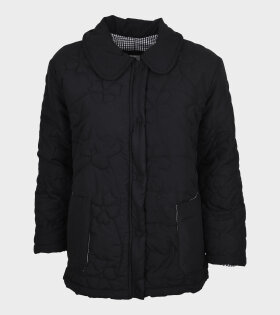 Roma Floral Quilted Jacket Black