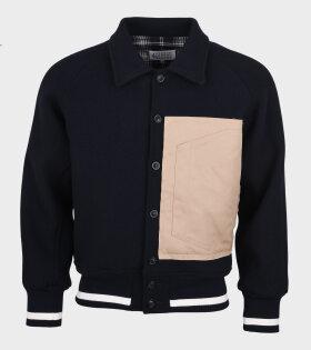 Wool Sportsjacket Navy/Brown