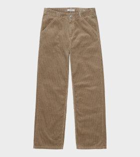 W Corduroy Simple Pant Tanami Dark Beige