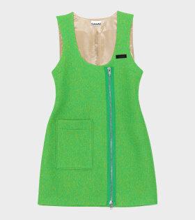 Mini Wool Dress Flash Green