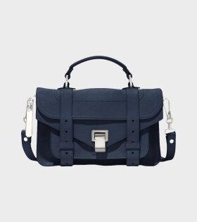 PS1 Tiny Lux Leather Bag Dark Navy