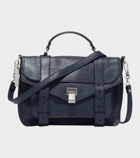 PS1 Medium Lux Leather Bag Dark Navy