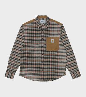L/S Asher Shirt Brown