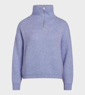 Hairy Rib Kinju Sweater Brunnera Blue