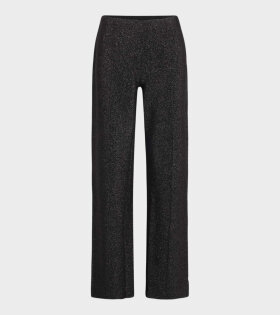 Glitter Stretch Pirla Pants Metallic Black
