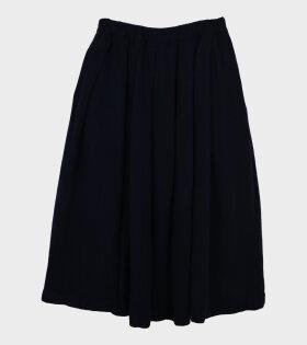 Ladies Wool Skirt Navy