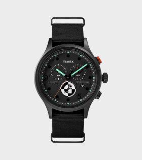 X Timex Range C Allied Chronograph Watch Black/Orange