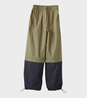 Poplin Tracksuit Trousers Green