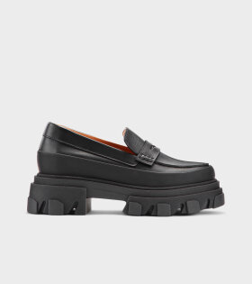 Chunky Leather Loafers Black
