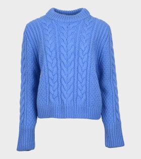 Geneva Knit Jumper Blue