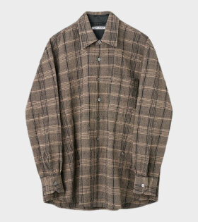 Above Shirt Checkered Ecru/Black