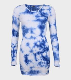101 Rib Extra Tie Dye Blue