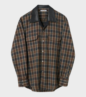 Poco Shirt Checkered Brown Melange
