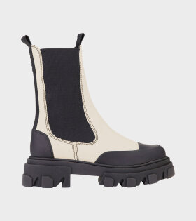 Mid Chelsea Leather Boot Off-White