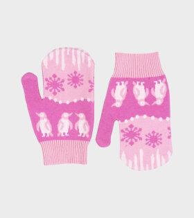 Les Gloves Pink Landscape