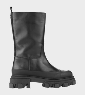 Mid Leather Boot Black