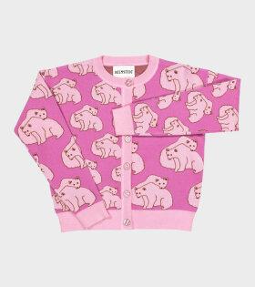 Oso Cardigan Pink Polarbear