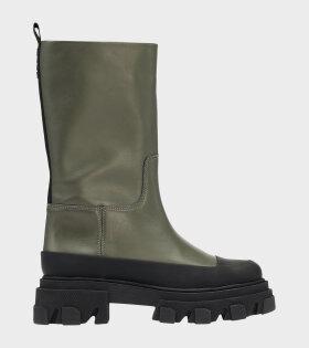 Mid Leather Boot Kalamata Green